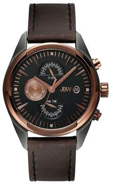 JBW Men's The Woodall Leather Diamond Watch - 0.04 ctw