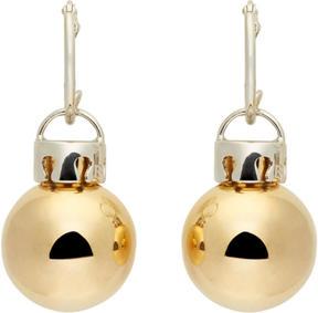 Balenciaga Gold and Silver December Ball Earrings