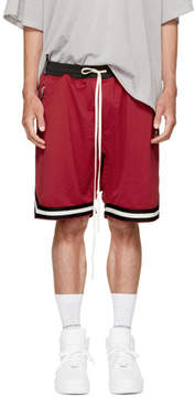 Fear Of God Red Mesh Drop Crotch Shorts