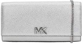Michael Kors Clutch Bag In Silver Leather - SILVER - STYLE