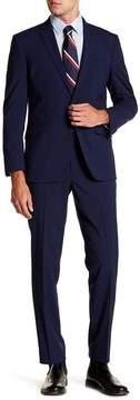 Kenneth Cole Reaction Beige Woven Two Button Notch Lapel Suit