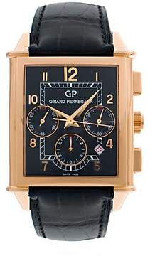 Girard Perregaux Vintage 1945 18kt Rose Gold Black Leather Men's Watch