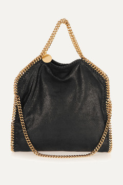 Stella McCartney - The Falabella Medium Faux Brushed-leather Shoulder Bag - Black