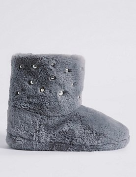 Marks and Spencer Pearl Detail Slipper Boots