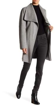 T Tahari Tahari Ella Belted Double Face Wool Blend Wrap Coat