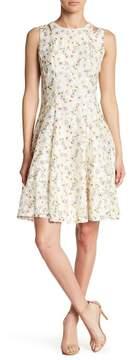 Gabby Skye Printed Lace Cutout Dress