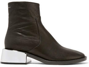 MM6 MAISON MARGIELA Leather Ankle Boots - Black