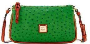 Dooney & Bourke Ostrich Lexi Crossbody Shoulder Bag - GREEN - STYLE
