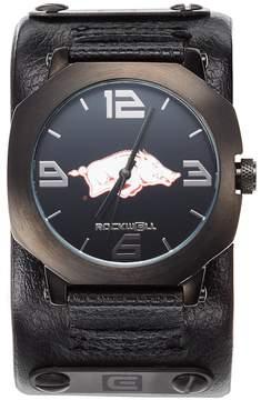 Rockwell Kohl's Arkansas Razorbacks Assassin Leather Watch - Men