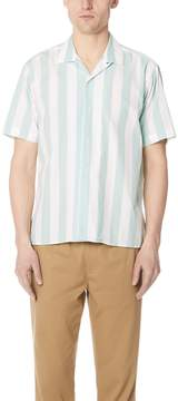 Gitman Brothers Wide Striped Camp Shirt