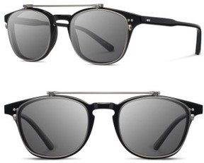 Shwood Women's Kennedy 50Mm Polarized Sunglasses - Black/ Grey Polar