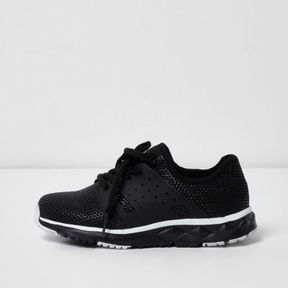 River Island Boys black runner sneakers