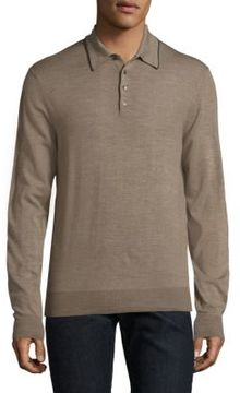 Saks Fifth Avenue COLLECTION Merino Wool Long Sleeve Polo