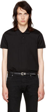 Saint Laurent Black Classic Polo