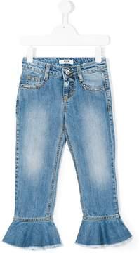 MSGM flared ruffle jeans