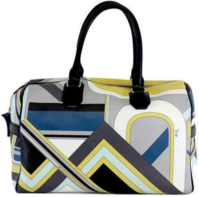 Emilio Pucci Multi-Color Print Leather Hand Bag