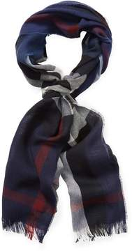 Burberry Men's Lightweight Check Wool & Cashmere Long Scarf