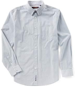 Ben Sherman Long-Sleeve Mini Target Print Shirt