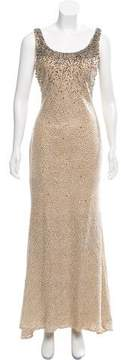 Alberto Makali Metallic Evening Dress