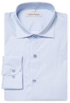 James Campbell Men's Spread Print Dress Shirt