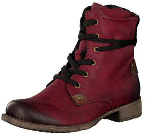 Rieker Red Lace Up Boots