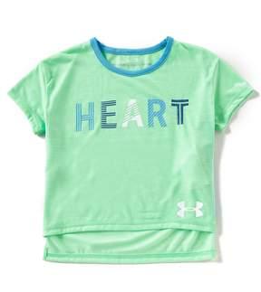 Under Armour Big Girls 7-16 Threadborne Heart Tee