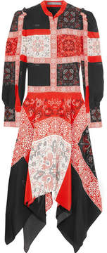 Alexander McQueen Printed Silk Midi Dress - Red