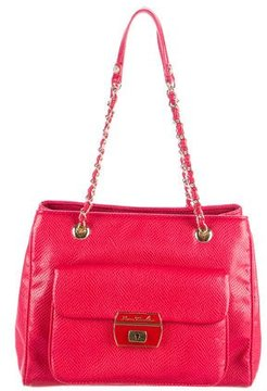 Love Moschino Embossed Leather Shoulder Bag