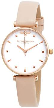 Olivia Burton Queen Bee White Dial Ladies Watch