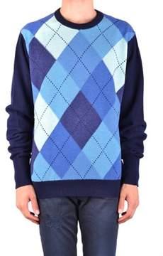 Ballantyne Men's Mcbi032071o Blue Cashmere Sweater.