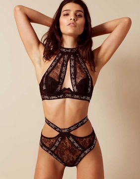 Agent Provocateur Montinah Big Brief Black And Rose