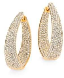 Adriana Orsini Crystal Pave Twist Hoop Earrings/1.25