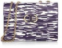 Tory Burch Gemini Link Chain Medium Shoulder Bag - NAVY SPACE DYE - STYLE