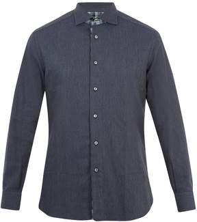 Brioni Point-collar cotton shirt