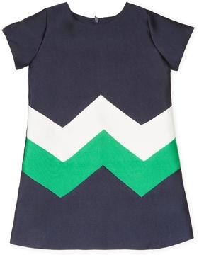Halabaloo Zig Zag Colorblock Dress