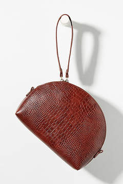 Anthropologie Crocodile-Embossed Faux Leather Bag