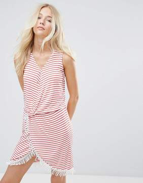 Blend She Simone Striped Wrap Dress