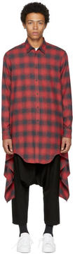DSQUARED2 Red and Black Blanket Shirt