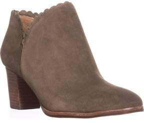 Jack Rogers Marianne Scalloped Low Rise Booties, Olive.