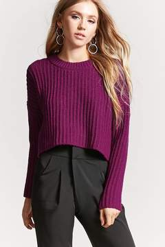Forever 21 Ribbed Knit Cropped Sweater