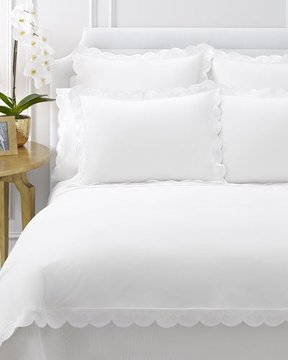 AERIN King Sham with Scallop Trim