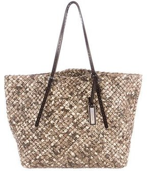Michael Kors Woven Embossed Leather Tote