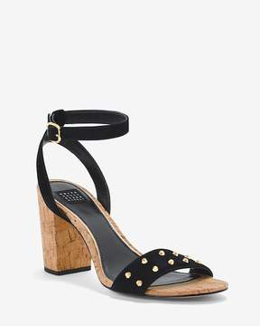 White House Black Market Studded Suede Cork Chunky Heels