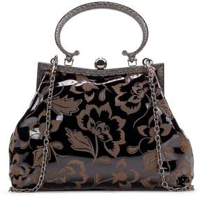 Patricia Nash Patent Etched Floral Collection Giulietta Clutch