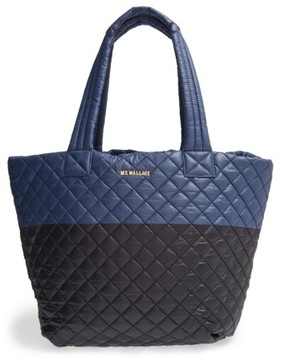 MZ Wallace 'Medium Metro' Quilted Oxford Nylon Tote - Black