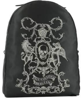 Alexander McQueen Black Fabric Backpack