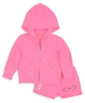 Butter Shoes Baby Girl's and Little Girl's Fleece Zip Hoodie & Shorts Set