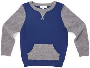 Marie Chantal Boys Two-tone Cashmere Sweater - Blue/Grey