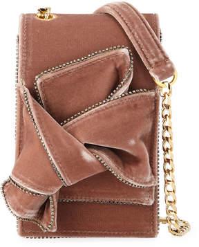 No.21 No. 21 Velvet Jeweled Micro Crossbody Bag
