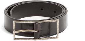 SAINT LAURENT Skinny patent-leather belt